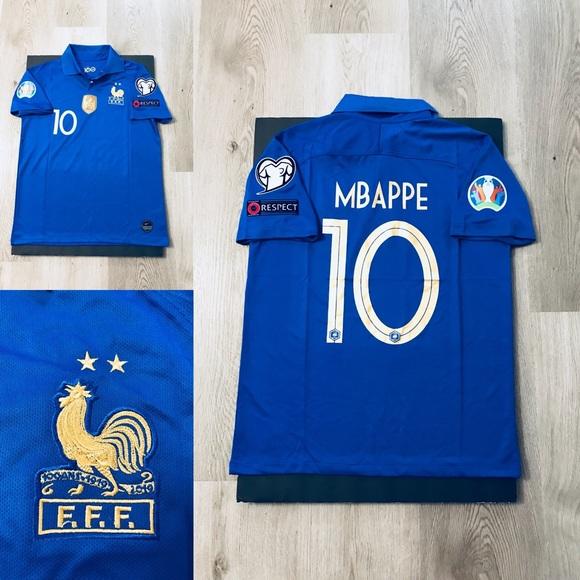 size 40 89d19 90475 France soccer jersey Mbappe #10 UEFA NWT